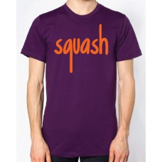 Squash Aubergine and Orange Flock Logo T-Shirt